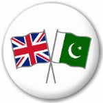 Great Britain and Pakistan Friendship Flag 25mm Pin Button Badge
